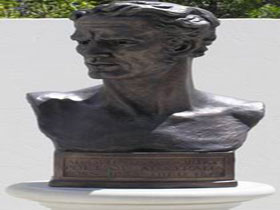 Adam Lindsay Gordon Bronze Bust - Mount Gambier Accommodation