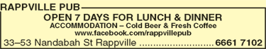 Rappville Pub - Mount Gambier Accommodation