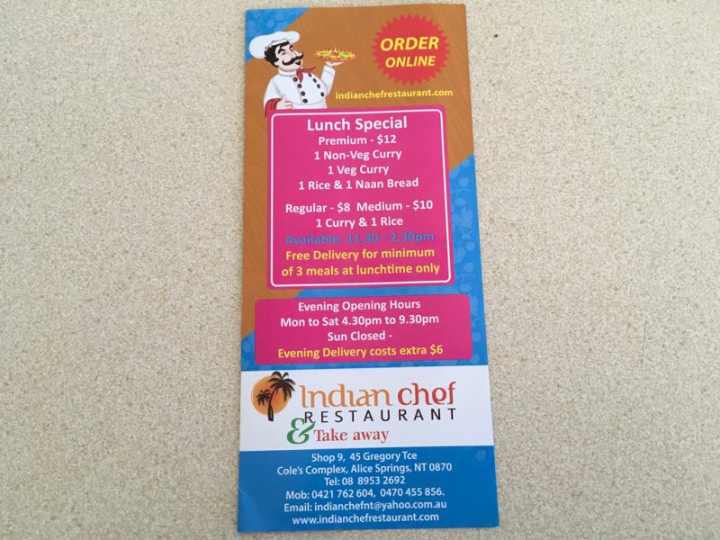 Indian chef restaurant  Take away - Mount Gambier Accommodation